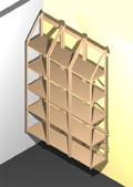 ordnerregal f r din a4 ordner mit 2 b den 45 cm breit ebay. Black Bedroom Furniture Sets. Home Design Ideas