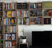 Unlackiertes Medienregal für CDs, DVDs und Blu-rays