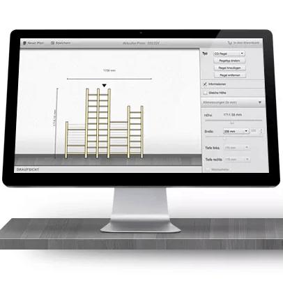 Regale nach Maß mit dem Regaflex Online Regalplaner