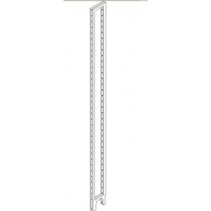 Bücherregalseite 17 cm tief mit 64 mm Bodenrastung 2 m hoch
