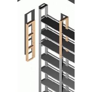 Regalseiten - Verlängerung für 2 Böden