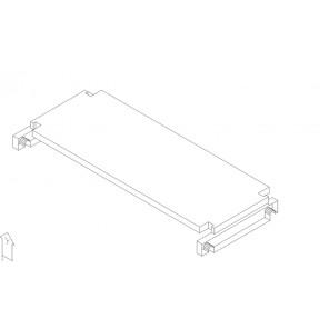 Regalboden 17 cm tief 413 mm breit mit Träger für 64 mm Rastsystem