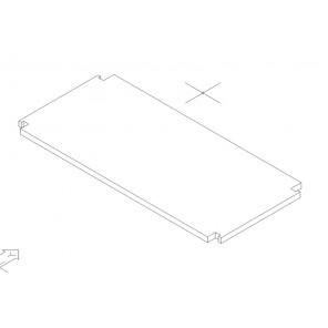 Regalboden 24 cm tief mit Träger für 64 mm Rastsystem