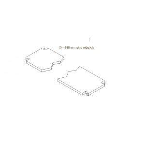 Regalboden 17 cm tief Sondermass ohne Träger für 64 mm Rastsystem
