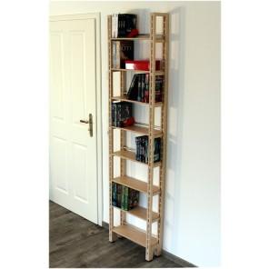 Standregal für DVDs und Bücher aus Birke Multiplex Regalserie Concept-12