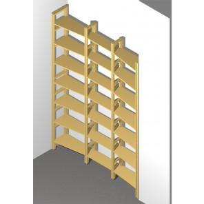 Bücherregal für eine Nische