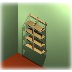 Zwei Bücherregale zum an die Wand haengen von Regaflex
