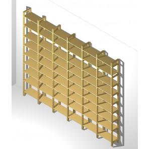 Bücherregal mit flexibel verstellbaren Böden In MDF unbehandlt