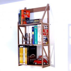 Bücherregal zum an die Wanhängen. 25 cm tiefes Modul