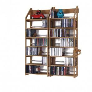 Hängende Aufbewahrung für 500 CDs im Jewel-Case