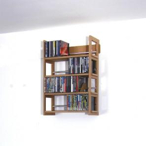 CD-Wandregal aus MDF mit 4 Böden für 144 CDs