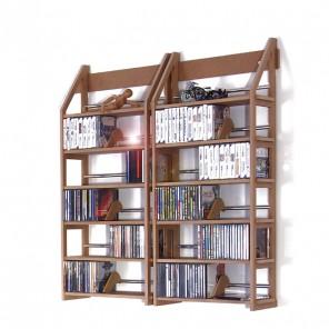 Zwei CD Wandregale um über 400 CDs übersichtlich aufzubewahren