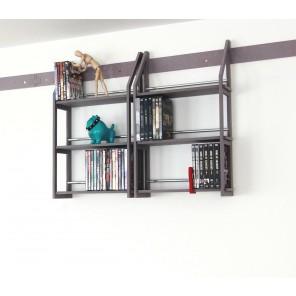 DVD-Regale in grau durchgefärbt
