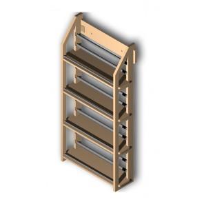 Gewürzregal aus Holz mit 4 Böden