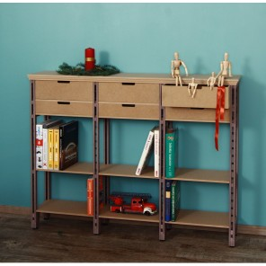 Kommode / Highboard im Industrialstil