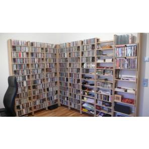 Eckregal für viele CDs