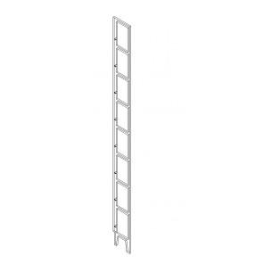 BD Standregal Seitenteile 175 mm Bodenabstand für 9 Böden