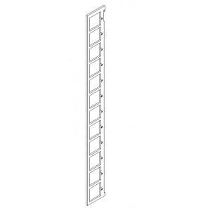 Seitenteil Paar für 11 Böden mit rechtwinkeligem Querschnitt