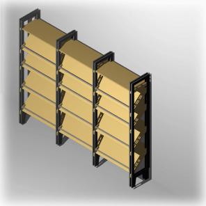 Kurzes Regal für 24 Paar Schuhe mit  Ablage in 24 cm tief | Modell Emden