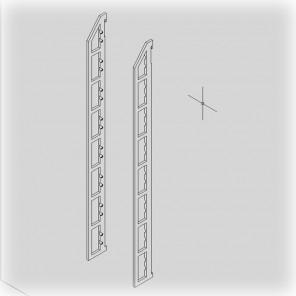 Gewürregal Seite für 8 Böden