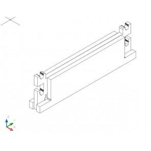 Sockel für Universalregal 33 cm tief - MDF