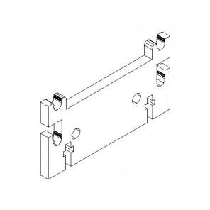 Sockel für Universalregal 20 cm tief - MDF