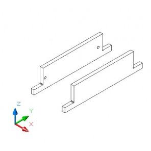 Sockelaufdoppellung - MDF 330 mm