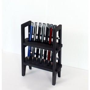 Stifthalter als Miniregal in schwarz