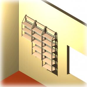 Treppenstufen Regal für DVD aus dem Holzwerkstoff MDF