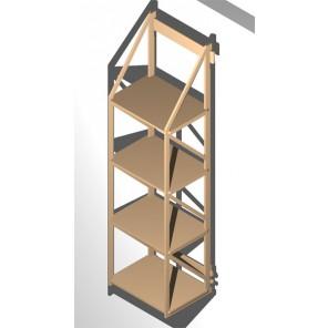 wandregal f r din a4 ordner. Black Bedroom Furniture Sets. Home Design Ideas