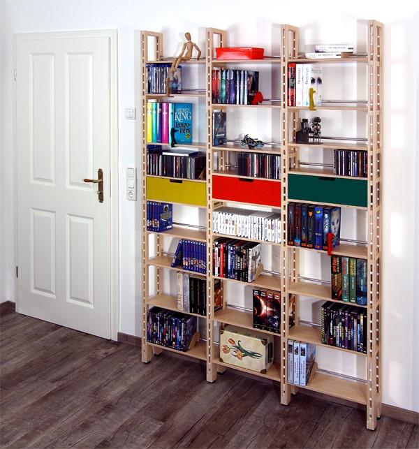 b cherregal aus mdf oder birke multiplex mit etwas platz. Black Bedroom Furniture Sets. Home Design Ideas