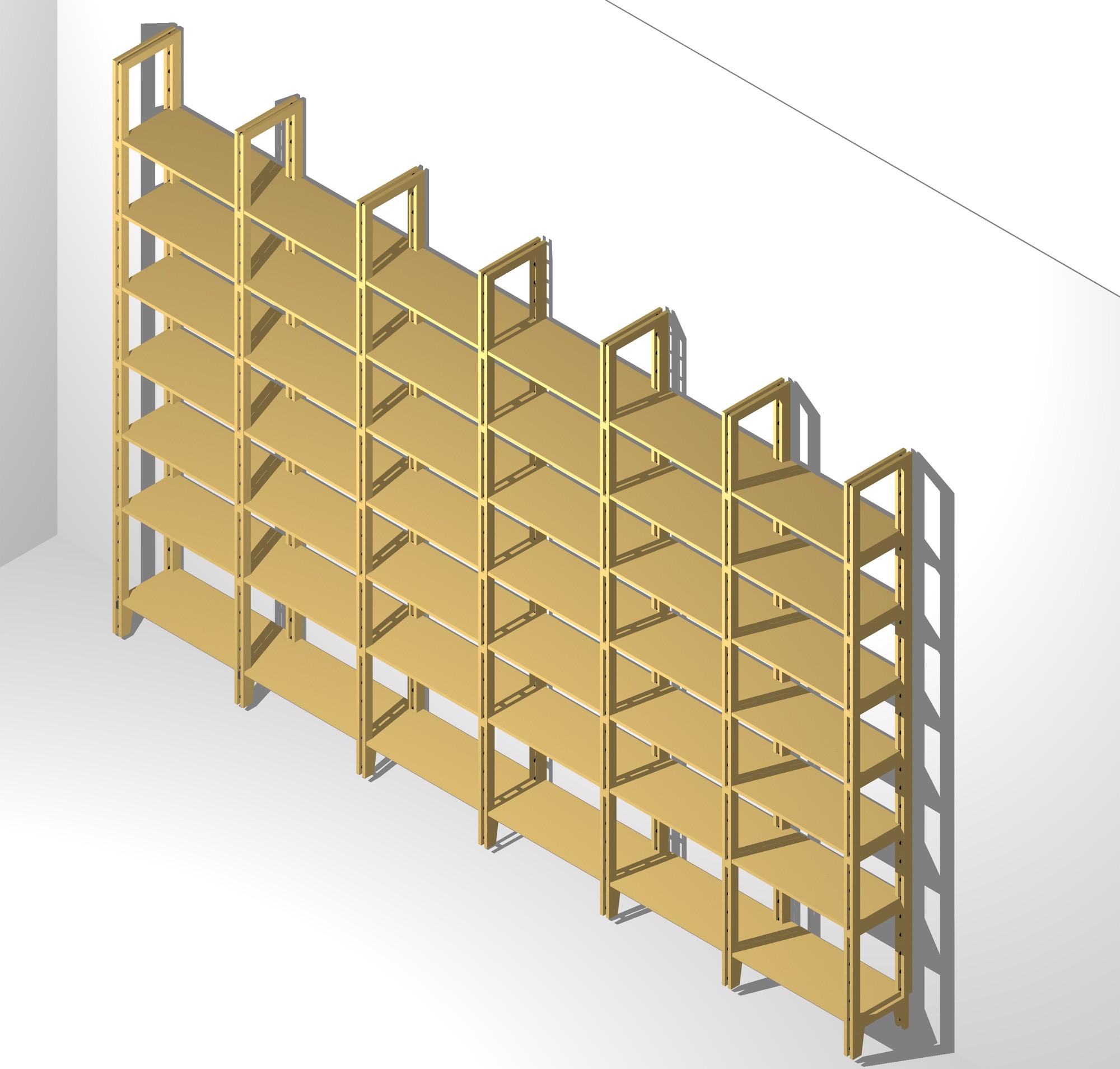 b cher regalwand zwei meter hoch mit verstellbaren b den. Black Bedroom Furniture Sets. Home Design Ideas