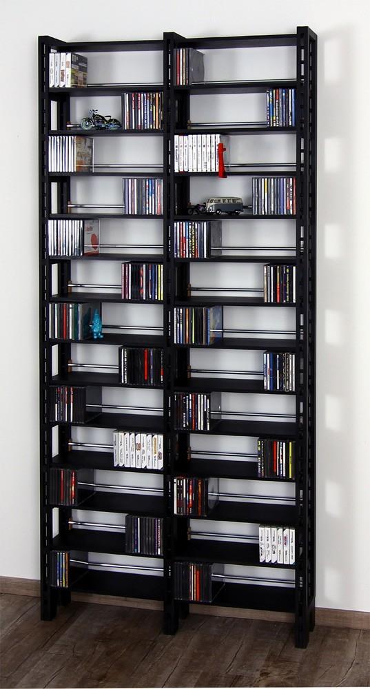 aus mdf schwarz durchgef rbtes cd regal concept 12. Black Bedroom Furniture Sets. Home Design Ideas