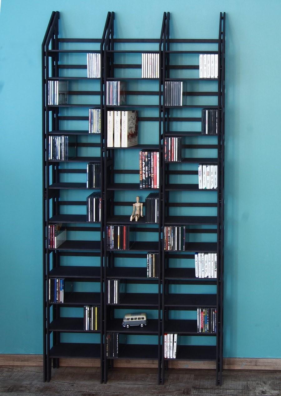 Regalsystem Bücher cd dvd regal komplettsystem für ca 1080 cds in schwarz
