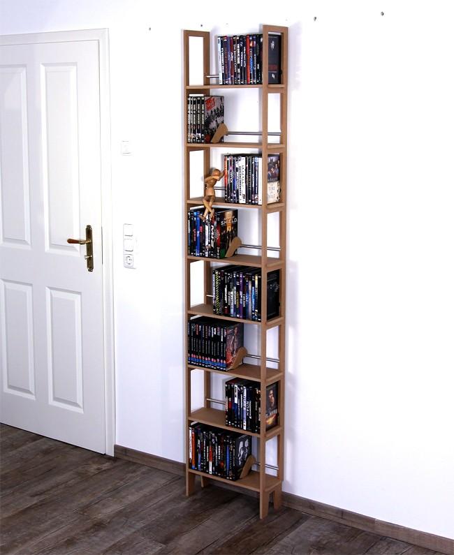 regal f r 208 dvds aus grau eingef rbtem mdf. Black Bedroom Furniture Sets. Home Design Ideas