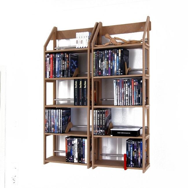 zwei dvd regal module f r 260 dvds buecher usw. Black Bedroom Furniture Sets. Home Design Ideas