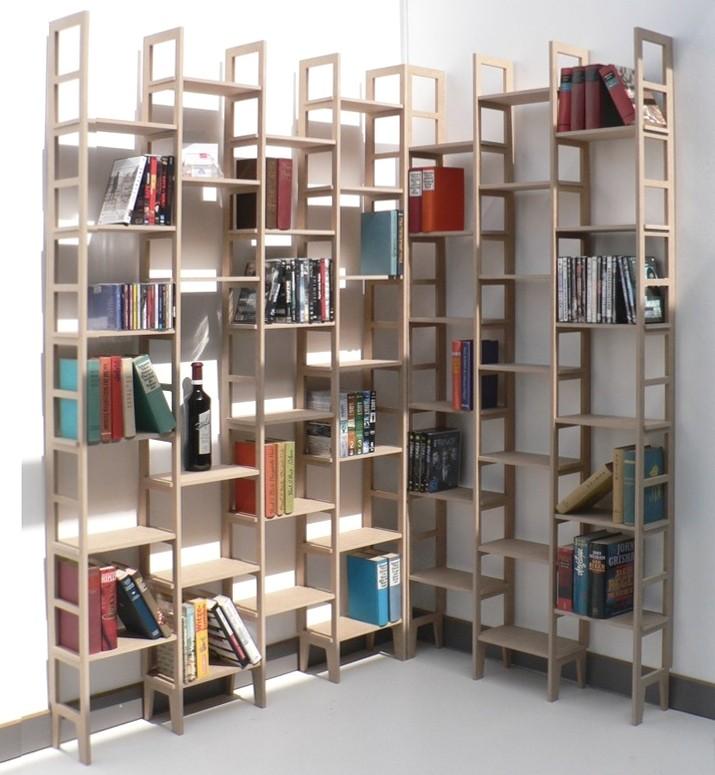 eckregal new line modern look f r b cher und taschenb cher. Black Bedroom Furniture Sets. Home Design Ideas