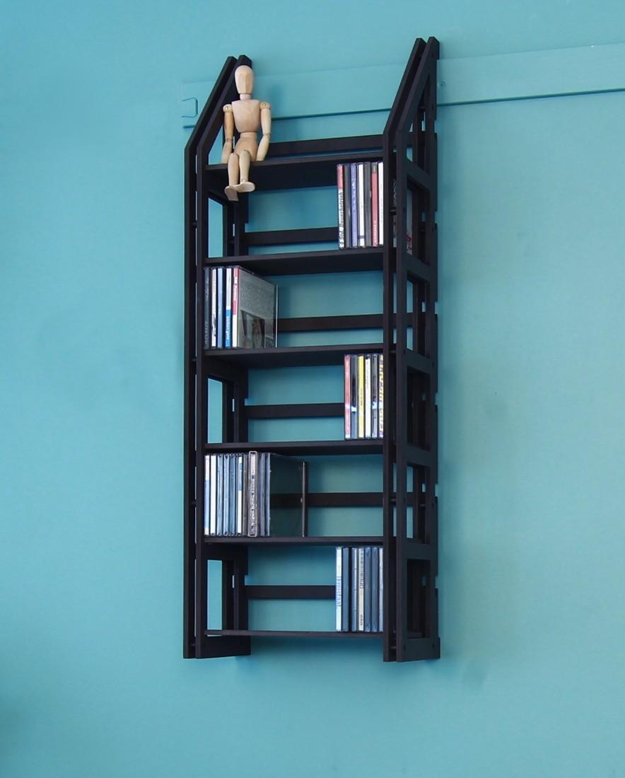 cd dvd regal wandregal f r 174 cd ausbauf hig. Black Bedroom Furniture Sets. Home Design Ideas