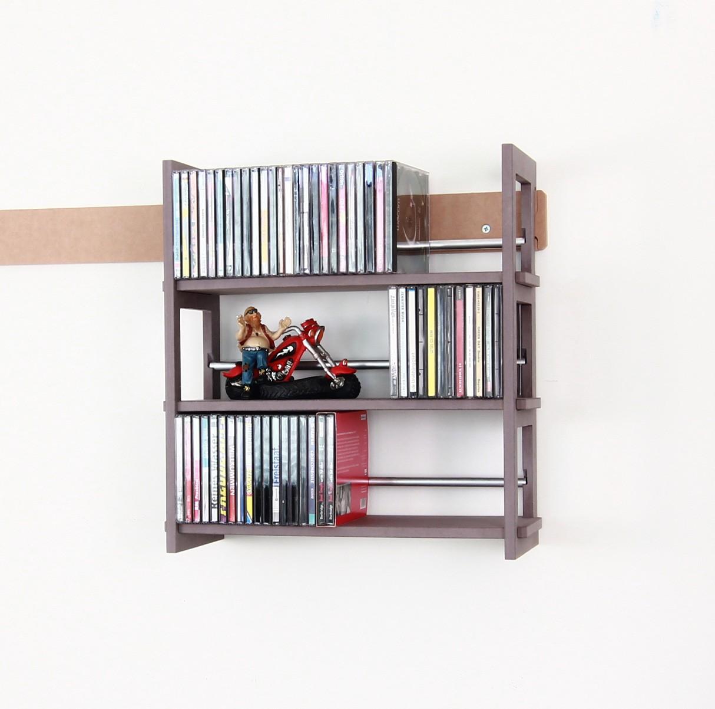 wandregal f r ber 100 cds. Black Bedroom Furniture Sets. Home Design Ideas