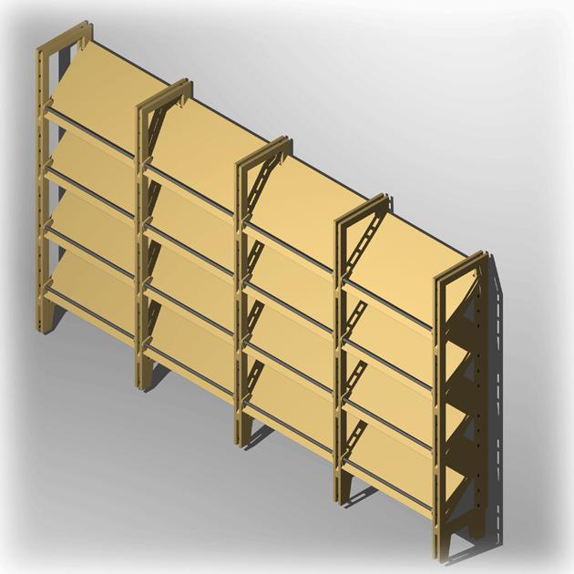 halbhohes schuhregal f r 32 paar schuhe in 24 cm tief. Black Bedroom Furniture Sets. Home Design Ideas