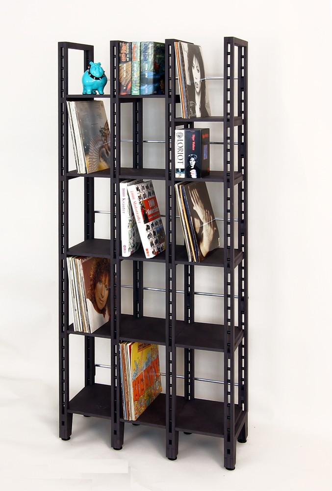 schallplattenregal mit 13 fcher aus schwarz durchgefrbtem mdf - Schallplattenregal
