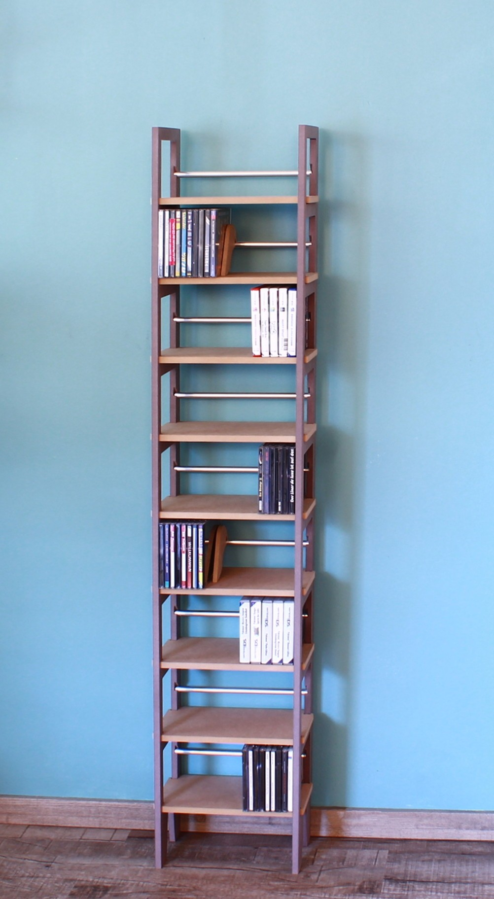 cd st nder aus holz mdf f r mehr als 200 cds. Black Bedroom Furniture Sets. Home Design Ideas
