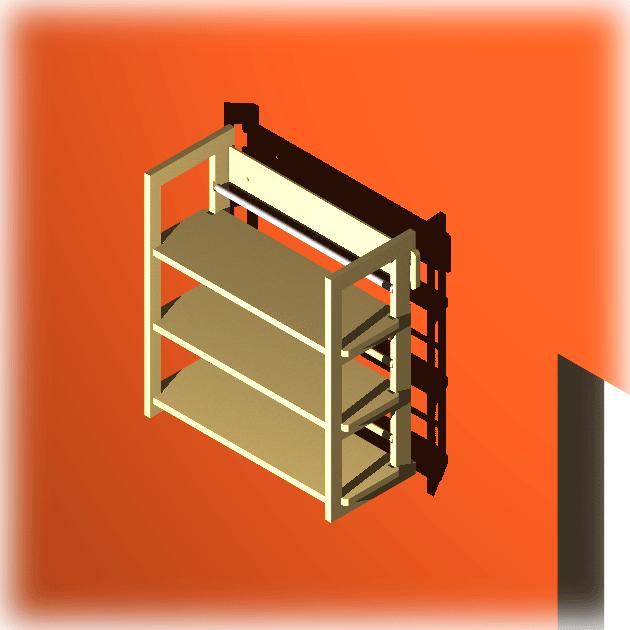 cd wandregal modul f r 108 cd dvd b cher. Black Bedroom Furniture Sets. Home Design Ideas