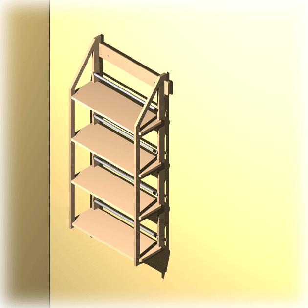 dvd regal f r ca 104 dvds oder div b cher. Black Bedroom Furniture Sets. Home Design Ideas