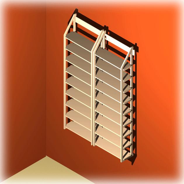 ein wandregal system jennifer f r 648 cds. Black Bedroom Furniture Sets. Home Design Ideas