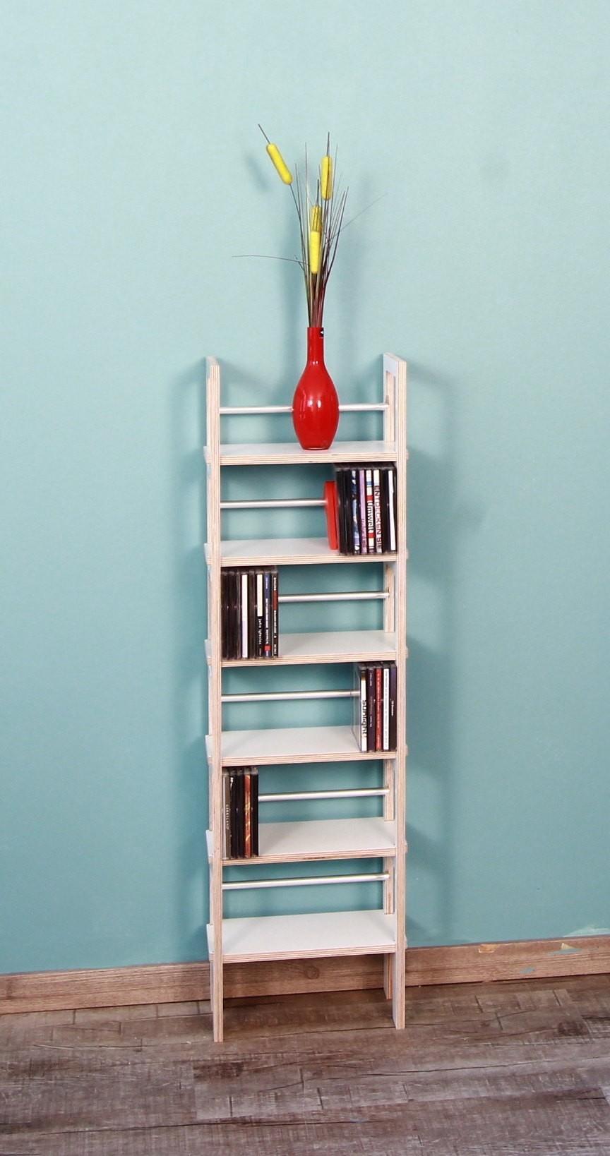 cd st nder wei lackiert von regaflex f r etwa 250 cds aus mdf. Black Bedroom Furniture Sets. Home Design Ideas