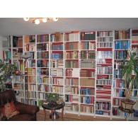 Bücherwand mit flexiblen verstellbaren Regalböden
