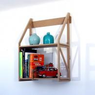Bücherregal Jennifer aus dem Holzwerkstoff  MDF 25 cm tief