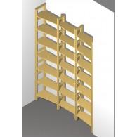 Wechseltiefes Bücherregal z.B. für eine Nische