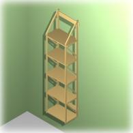 Bücherregal Jennifer aus MDF 25 cm tief